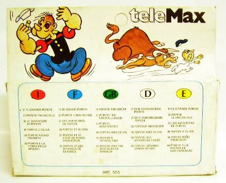 Popeye - Telemax Color Movie Cartridge - #6 Popeye and the strenght of spinach