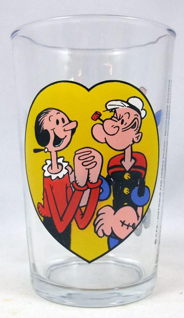 Popeye - Verre à moutarde Ducros - Popeye en avion
