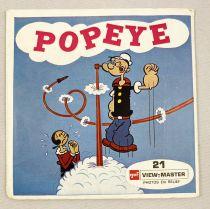 Popeye - View-Master (GAF) - Pochette de 3 disques (21 images stéréo) et Livret