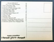 Postal Card - Renault Gitane Team 1978 - Bernard Hinault