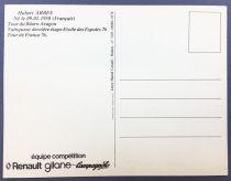 Postal Card - Renault Gitane Team 1978 - Hubert Arbes