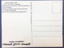 Postal Card - Renault Gitane Team 1978 - Roland Berland