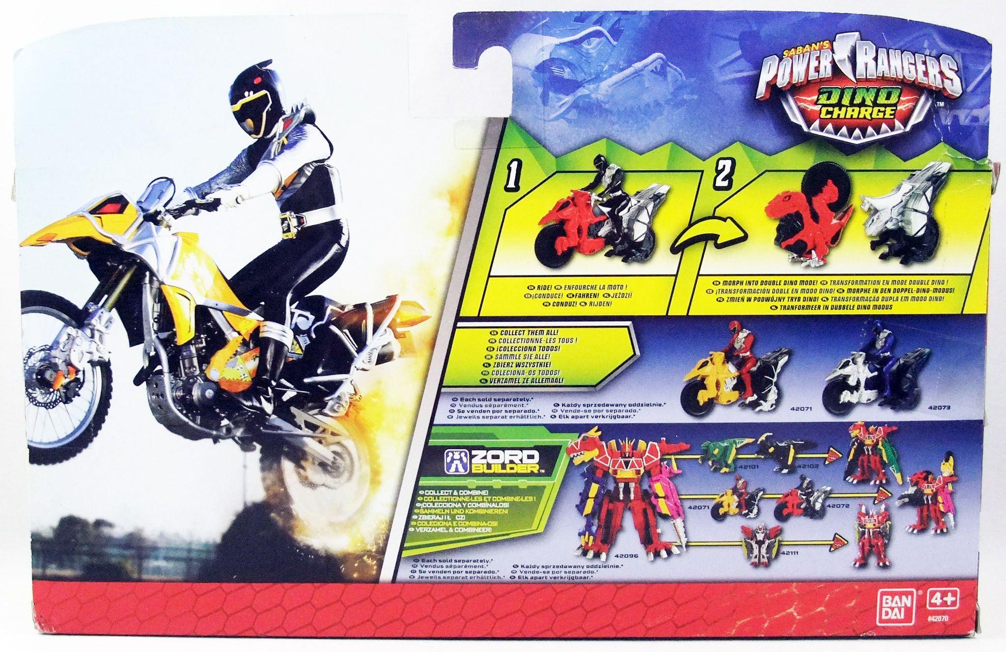 Power Rangers Dino Charge - Moto Raptor & Ranger Noir