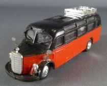 Praliné Ho 1/87 Autocar Mercedes Benz 0-3500 Rouge & Noir Toit Ouvrant