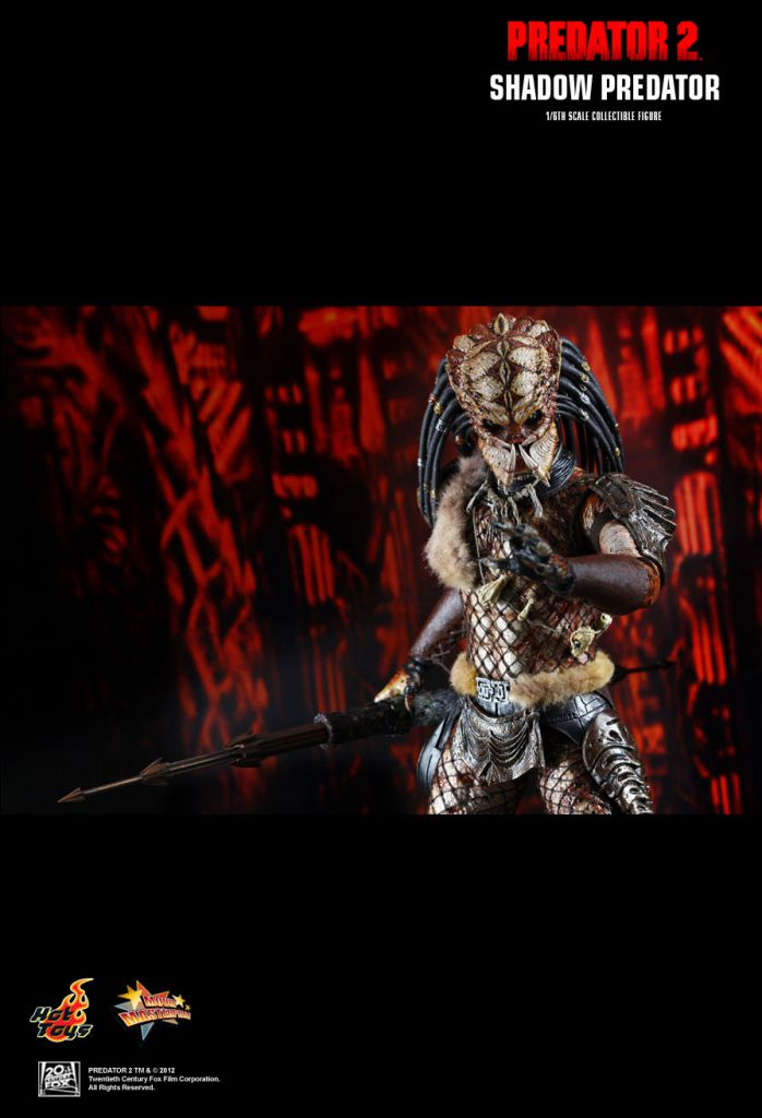 "Predator 2 - Shadow Predator - 12"" figure Hot Toys MMS 154"