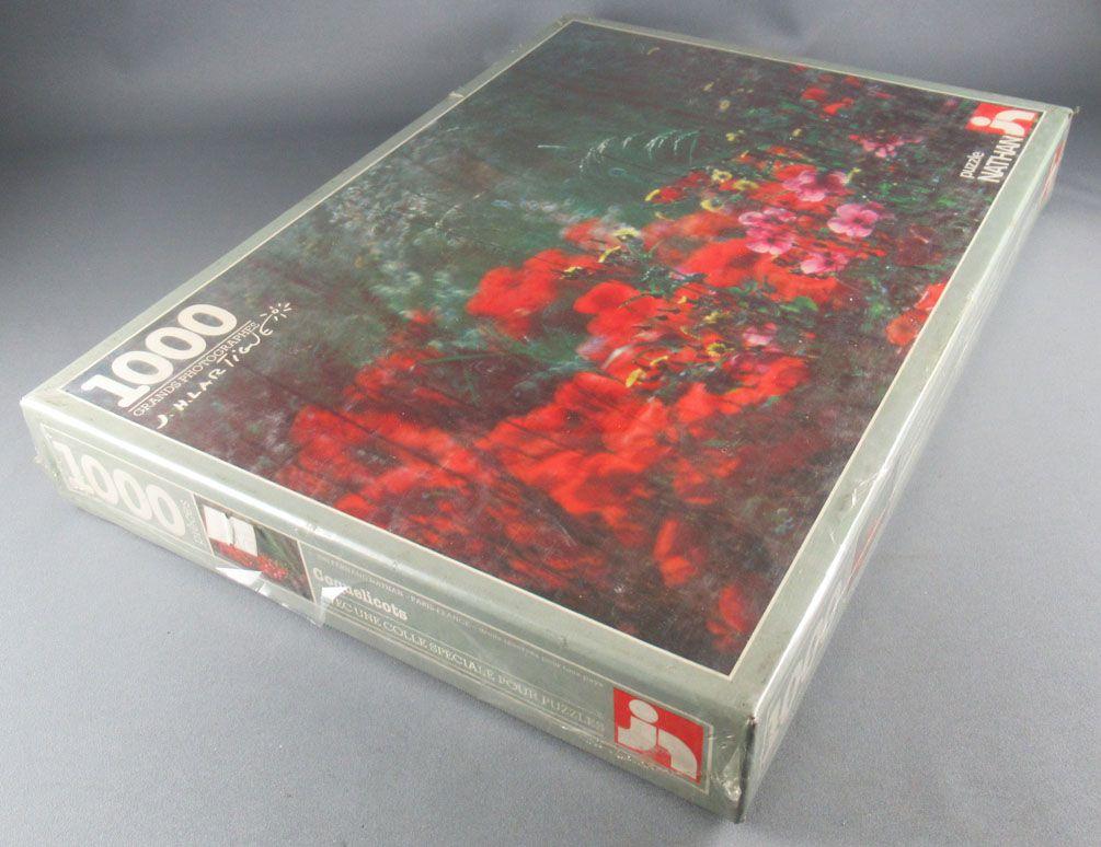 Puzzle 1000 pièces - Nathan Réf 550713 - Grand Photographe J H Lartigue Coquelicots Neuf Boite Cellophanée