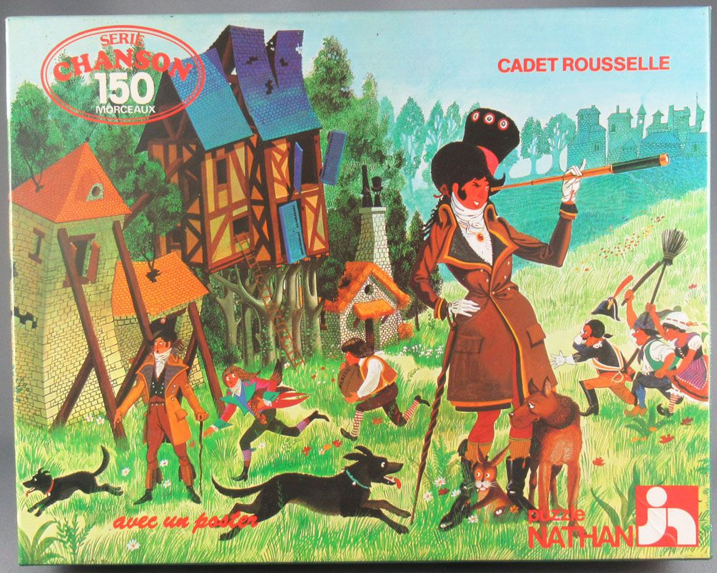Puzzle 150 pieces - Nathan Ref 555333 - Cadet Rousselle Songs Sries + Poster MIB