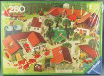 Puzzle 280 pièces - Ravensburger Réf 62359013 - Chez Nous Dans le Village Mitgutsch Neuf Boite Cellophanée