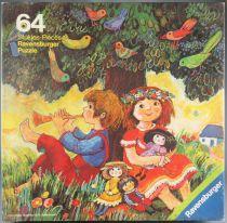 Puzzle 64 pièces - Ravensburger Réf 62358432 - Sous l\'Arbre aux Oiseaux Edith Witt Neuf Boite Cellophanée