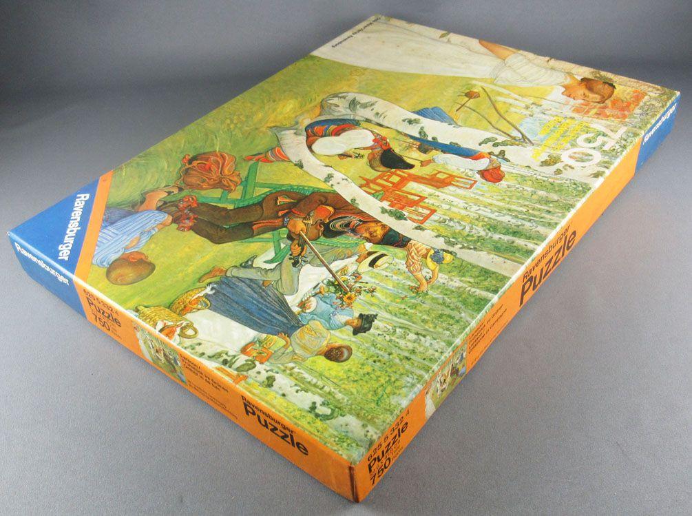Puzzle 750 pièces - Ravensburger Réf 62553324 - Le Petit Déjeuner sur l\'Herbe Larsson Neuf Boite
