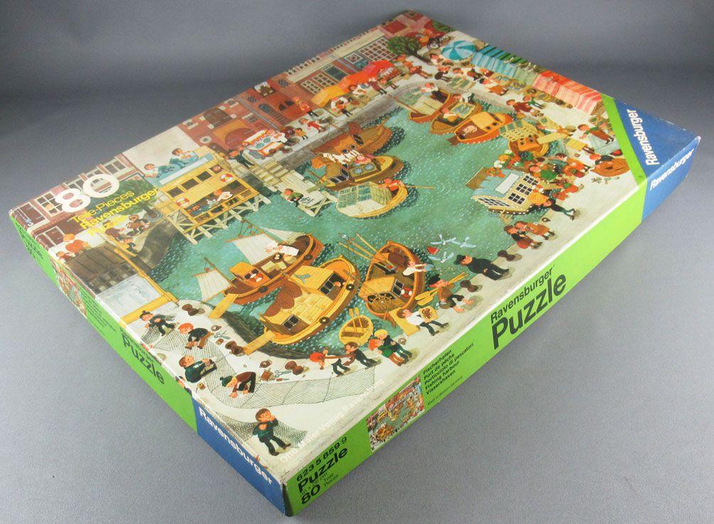 Puzzle 80 pièces - Ravensburger Réf 62358599 - Port de Pêche Mitgutsch Neuf Boite Cellophanée
