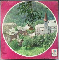 Puzzle Rond 500 pièces - MB Réf B690 - Village Suisse Neuf Boite