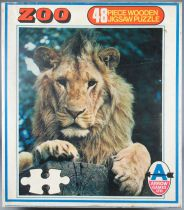 Puzzle Wooden 48 pieces - Arrow Games Ltd Réf 5452W - Lion MIB