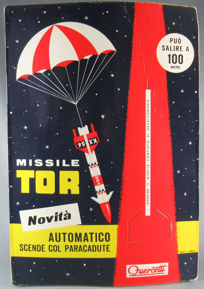 Quercetti - Store Display Stand for Missile Rocket Tor