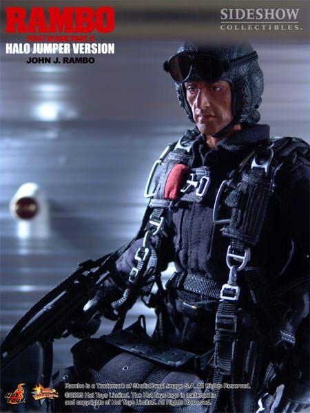 "Rambo - Hot Toys - John J. Rambo \""Halo Jumper version\"" (First Blood Part II- MMS11"