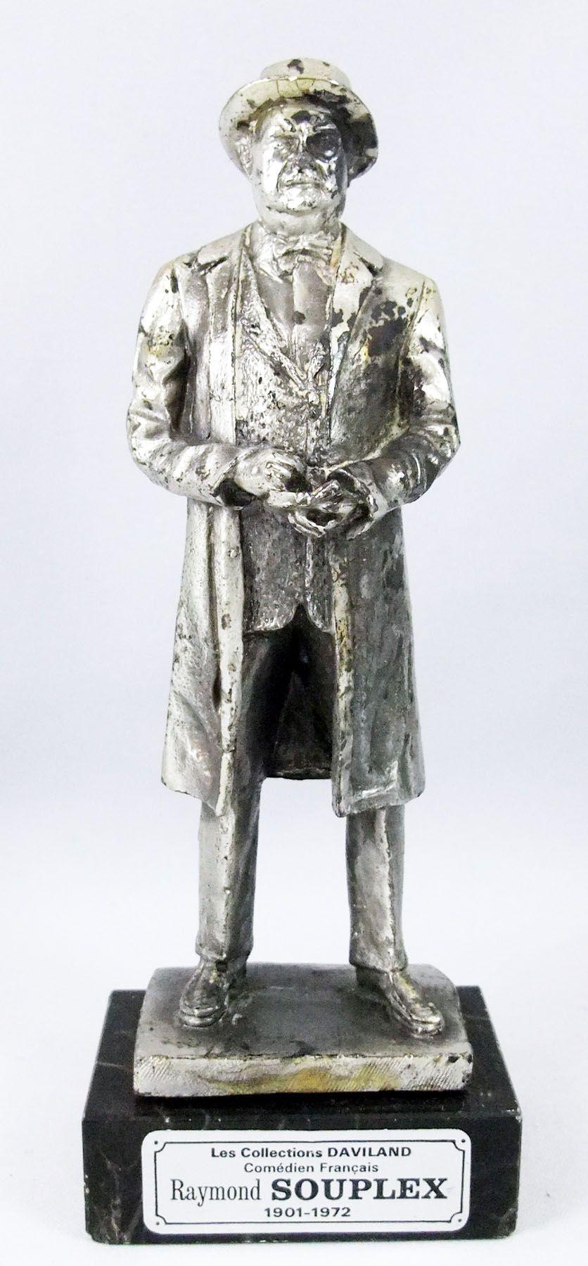 Raymond Souplex (Inspecteur Bourrel - Les Cinq Dernières Minutes) - Statue en métal injecté 16cm - Daviland France 1978
