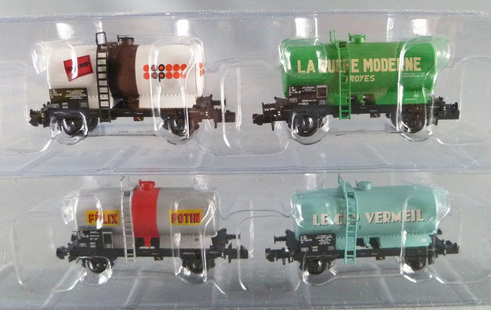 Ree Modeles NW-046 Ech N Sncf Coffret 4 Wagons Citernes Soudées Ocem Epok 4