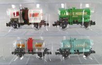 Ree Modeles NW-046 N Scale Sncf 4 Ocem Tank Wagons Epok 4 Mint in Box