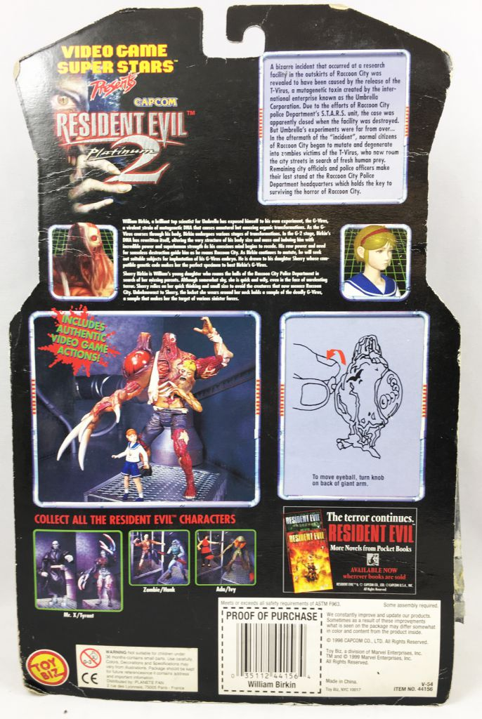 Resident Evil 2 - Toy Biz Capcom - William Birkin & Sherry