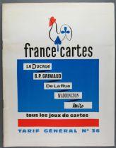 Retailer Catalog France Cartes 1963 Cards Game Miro Ducale Grimaud Waddington De la Rue