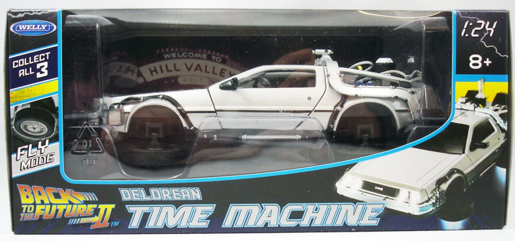 "Retour vers le Futur - Welly - Delorean Time Machine Part.2 ""Fly Mode\"""