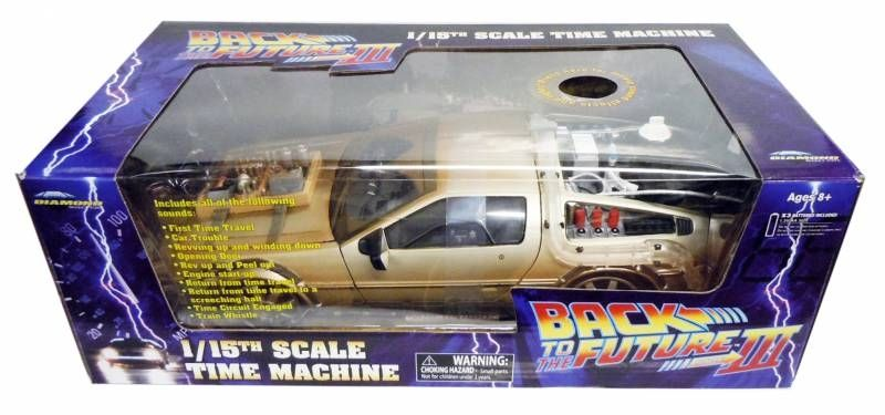 "Retour vers le Futur Part.III - Diamond Select Toys Delorean Time Machine ""Rail Road\"" 1/15eme (Effets sonores & Lumineux)"