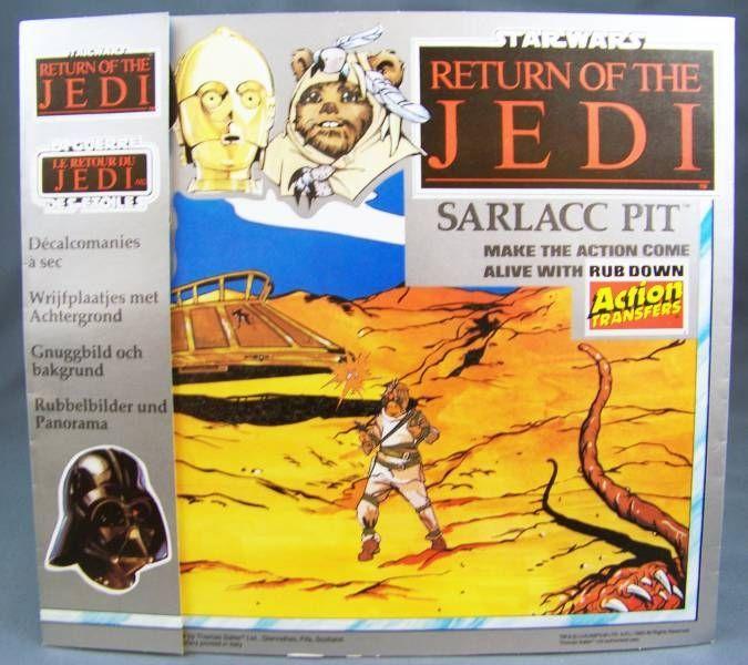 Return of the Jedi 1983 - Rub-Down Transferts - Sarlacc Pit (Thomas Salter  Ltd)