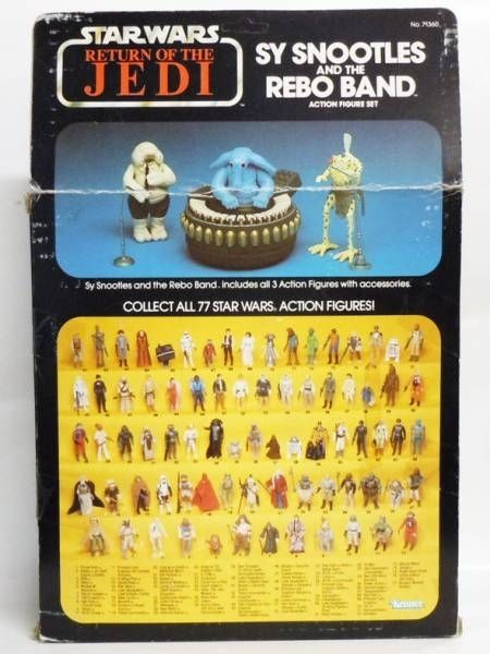 Return of the Jedi 1983/1984 - Kenner - Sy Snootles & Rebo Band (yellowed bubble