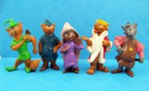 Robin des Bois - Série Complète de 5 Figurines PVC Heimo