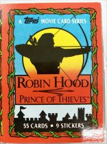 Robin Hood: Prince of Thieves - Topps Trading Cards (1991) - Série complète 55 cartes + 9 stickers