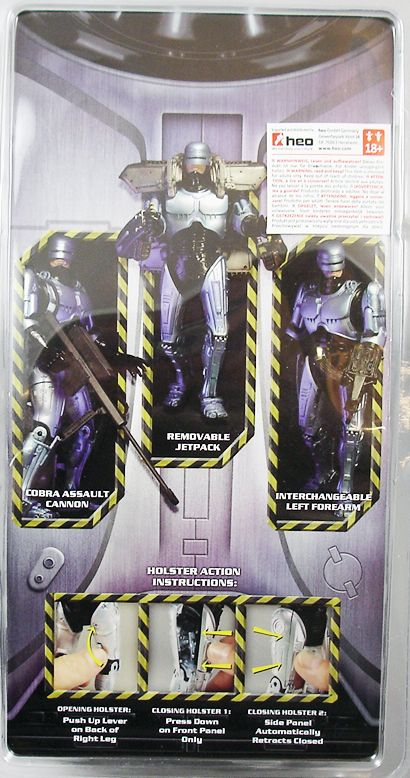 RoboCop - NECA - Figurine articulée Robocop avec jetpack 18cm (1)
