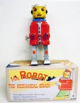 Robot - Battery Operated & Mechanical Tin Robot - Mr. Robot the Mechanical Brain (Ha Ha Toys)