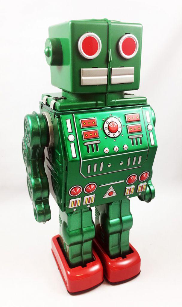 Robot - Battery Operated Tin Robot - Dino Robo (Metal House - Horikawa reissue)
