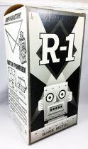 Robot - Battery Operated Tin Robot - Robot One R-1 (Rocket USA) Bare Metal