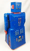 Robot - Battery Operated Tin Robot - Robot One R-1 (Rocket USA) Blue