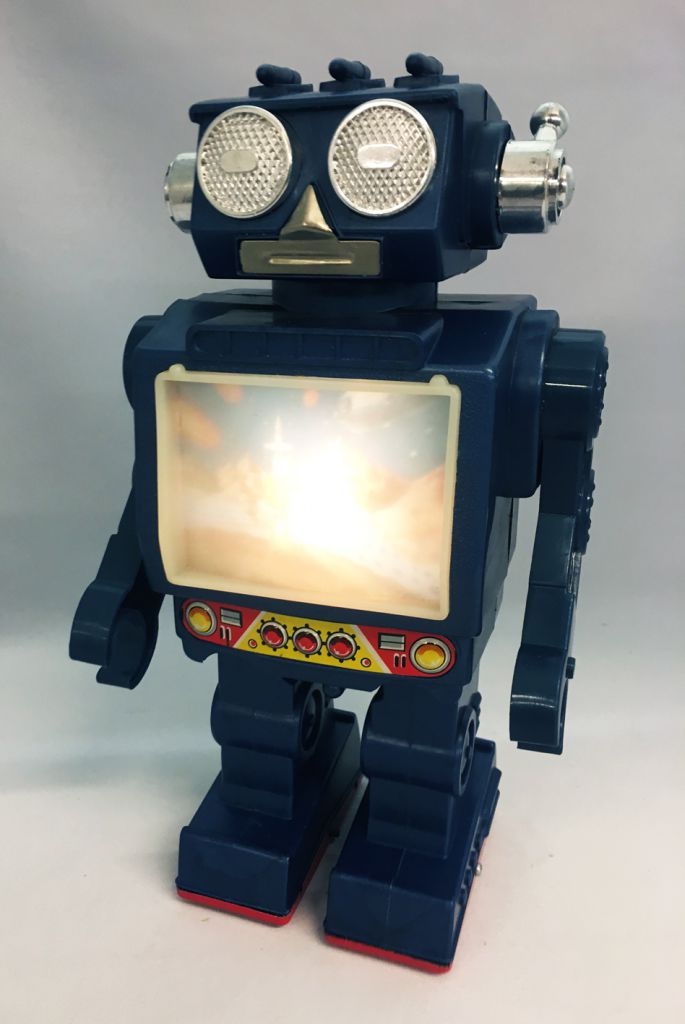 Robot - Battery Operated Walking Robot - Space Commander - Horikawa (S.H.)