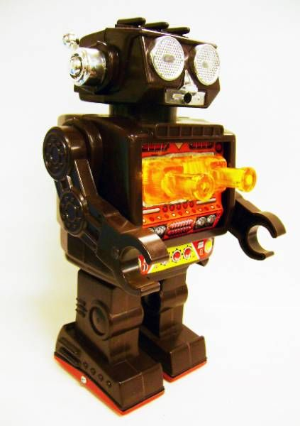 Robot - Battery Operated Walking Robot - Space Fighter (S.J.M.)