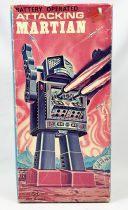 Robot - Battery Operated Walking Tin Robot - Attacking Martian (Horikawa S.H. Japan)