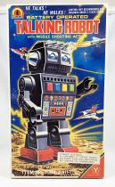 Robot - Battery Operated Walking Tin Robot - Talking Robot (Yonezawa Japan)