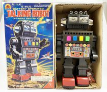 Robot - Battery Operated Walking Tin Robot - Talking Robot (Yonezawa Japan)