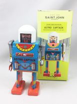 Robot - Mechanical Walking Tin Robot - Astro Captain (St.John Tin Toy)