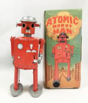 Robot - Mechanical Walking Tin Robot - Atomic Robot Man (St.John Tin Toy)