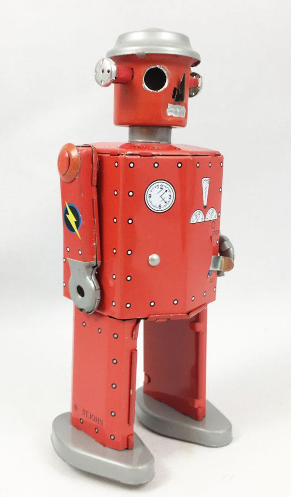 Robot - Mechanical Walking Tin Robot - Atomic Robot Man (St.John Tin Toy)