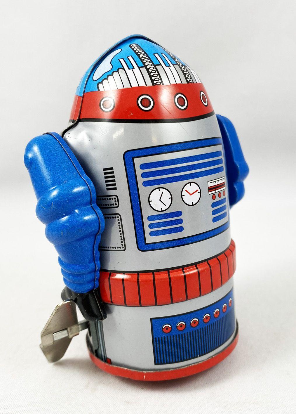 Robot - Mechanical Walking Tin Robot - Cragstan Mr. Atomic Grey (Ha Ha Toy) MS632