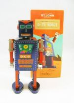 Robot - Mechanical Walking Tin Robot - D-73 Robot (St.John Tin Toy)