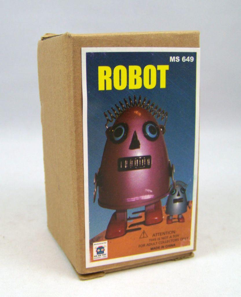 Robot - Robot Marcheur Mécanique en Tôle - Robot Oeuf (Ha Ha Toy) 04