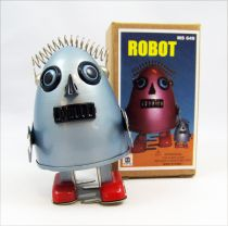 Robot - Mechanical Walking Tin Robot - Egg Robot Grey (Ha Ha Toy)