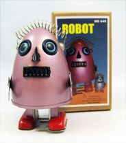 Robot - Mechanical Walking Tin Robot - Egg Robot Red (Ha Ha Toy)