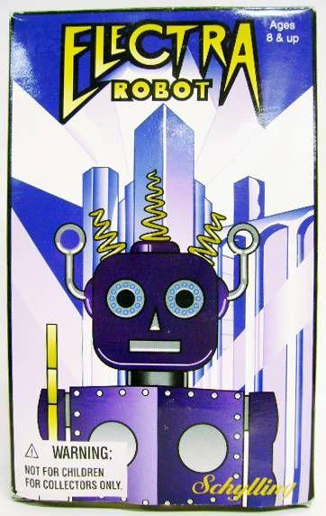 Robot - Mechanical Walking Tin Robot - Electra Robot (Schylling Toys)