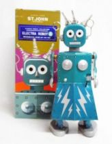 Robot - Mechanical Walking Tin Robot - Electra Robot (St. John)